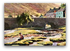 Leenane Village Painting